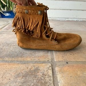 Brown Minnetonka Booties